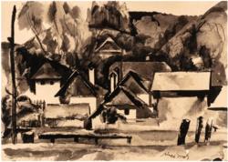 Aba-Novák Vilmos (1894 - 1941): Felsőbányai házak