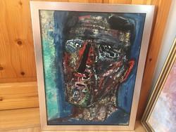 Keleti Jenő absztrakt avantgard férfi portré önarckép