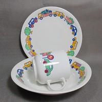 Alföldi autós bögre és tányér szett
