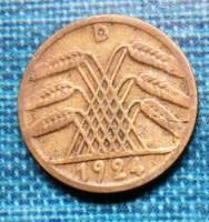 Régi német 5 Rentenpfennig  1924 D