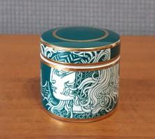 Szász Endre porcelán tégely/doboz, ritka zöld színben – Limitált kiadás