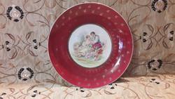 Monarchia korabeli antik jelenetes porcelán fali tál