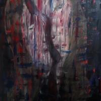 Absztrakt portré festmény