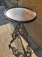Antik öntöttvas asztal,virágtartó