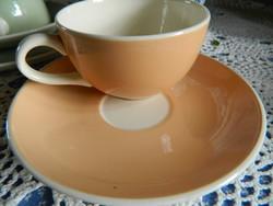 Közel 100 éves Villeroy&Boch Saar fajansz bézs csésze és alj