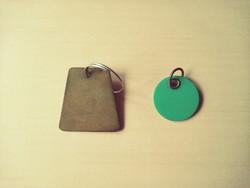 Vintage régi kulcscimke