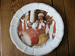 Gyűjtői ritkaság! TUNISIE PORCELANIE LA ROSE DES SABLES PATE DE LIMOGES nagy tányér