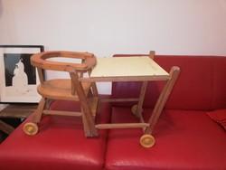 Retro etető szék, baba szék 1970 és évek