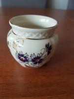 Zsolnay porcelán búzavirág mintás kis kaspó - 1064/40/059 – 6 cm