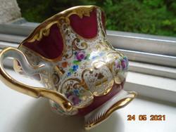 19.sz kézzel festett nagyon finom arany mintákkal és virágmintákkal opulensen aranyozott teás csésze
