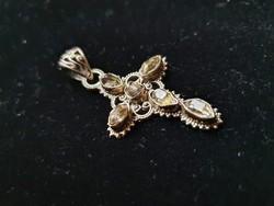RITKASÁG! Ezüst medál valódi herkimer gyémantokkal