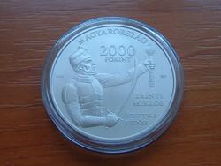 2000 FORINT 2016 BU Szigetvári vár emlékérme réz (75%) és nikkel (25%) súlya 30,8 gr. 38,61 mm