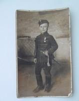 Helytörténeti kép Salgótarján kis huszár kadét fénykép