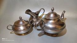 GBN - Gebruder Bing Nurenberg - jelzett tea kiöntő+tej kiöntő+ cukor tartó 1930-as évek