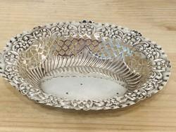 Ezüst áttört kosár Angol 925-ös ezüstből