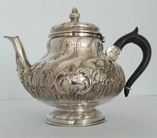 Ezüst barokk 2 személyes teás kanna