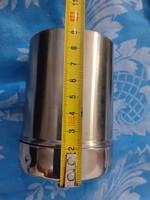 10 cm magas rozsdamentes tároló edény