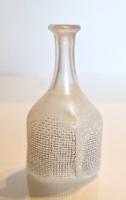 Kosta Boda gyöngyház színű kicsi váza