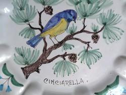 LEÁRAZTAM!!! Régi olasz kézzel festett fajansz falitányér