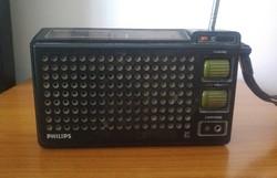 Philips hordozható táskarádió (működőképes)