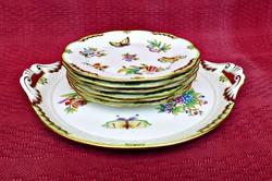 Herendi Viktória süteményes készlet gyönyörű darabok