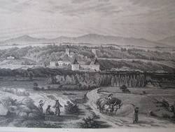 ASZÓD LÁTKÉP JELZETT METSZET KÉP CCA. 1850