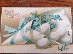 NEFELEJCSES DOMBORNYOMOTT KEPESLAP 1910 ből Húsvéti