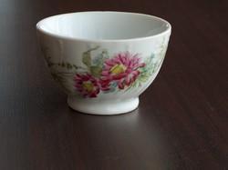 Antik csésze teás vastagfalú virágmintás hibátlan.