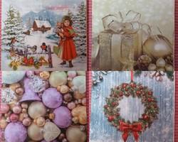 4 db karácsonyi 3 rétegű szalvéta eladó