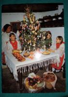 Népviselet,ünnep,hagyományőző karácsony,használt  képeslap