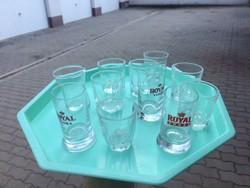 Pálinkás pohár készlet 11 db! egyben