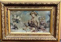 Tündéri puttó! Ismeretlen festő – Puttó mandolinnal című festménye – 191.