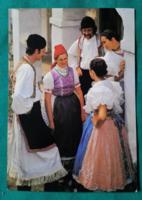 Kapuvári népviselet -  postatiszta képeslap