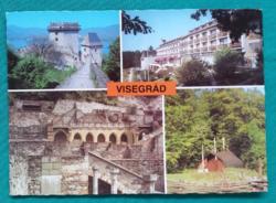 Magyarország,Visegrád,vár,postatiszta képeslap,1982