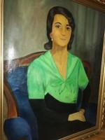 Bartók jelzéssel : Smaragd ruhás nő
