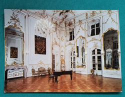 Magyarország,Feretőd,a kastély díszterme,postatiszta képeslap,1980