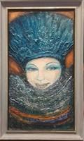The powder. 50X30cm.The picture is certified. The work of Károlyfi sófia, prima prize winner.