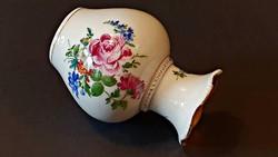100 éves, gyönyörű, kis méretű HÜTTL TIVADAR, ritka porcelán váza 11,5 cm magas.