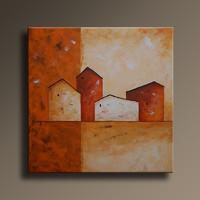 Vörös Edit: Cityscape N01 40x40cm