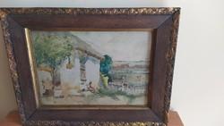 Neogrády Antal gyönyörű akvarellje