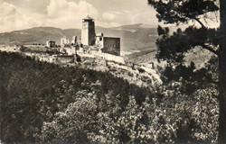 K 026  Séta Szlovákiában a XX század derekán. Trencséni vár 1959
