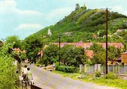 Ba 065 Színes körkép a Balaton vidékról a XX.század közepén . Szigliget, látkép a várral