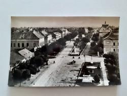 Régi képeslap Jászberény utcarészlet levelezőlap