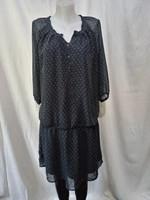 Olajzöld aprómintás ruha vagy tunika (44-46)