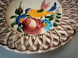 Soós madaras kerámia fali tányér