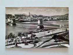 Régi képeslap Budapest Lánchíd levelezőlap