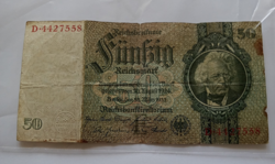 Régi német /1933/ papírpénz