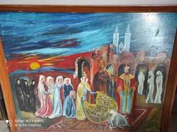 """""""Boldog Gizella"""" nagyméretű festmény"""