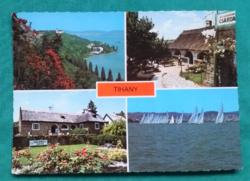 Magyarország,Tihany,Balaton,csárda,használt képeslap,1985
