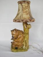 Málnázó mackó kerámia lámpa